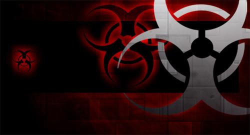Affiche Danger biohazard avec photoshop