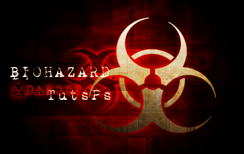 Affiche Danger biohazard avec photoshop