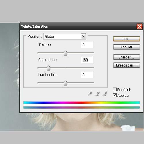 Tutorial photoshop Atténuation des contours et saturation avec photoshop