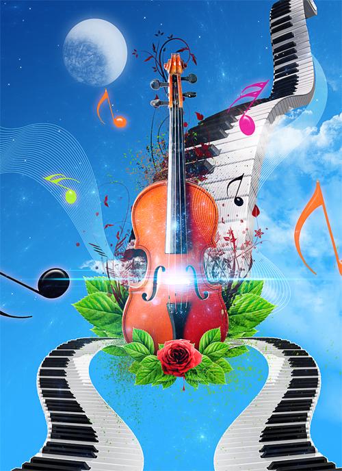 Comment réaliser un Abstrait Musical avec Photoshop