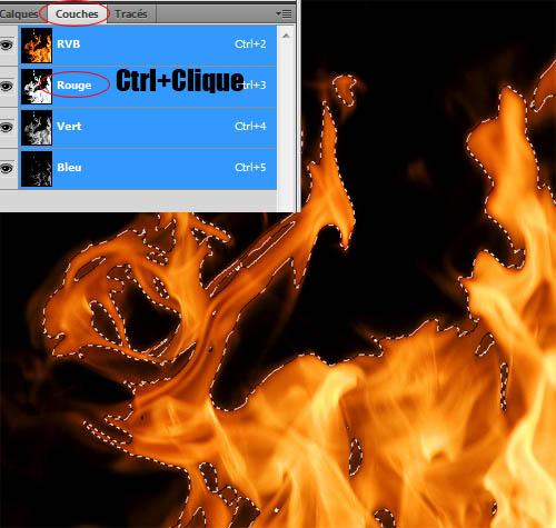 Adobe photoshop, créer un crane en feu avec Photoshop