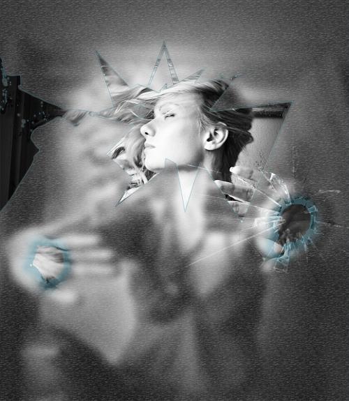 Tutoriels photoshop créer un effet de bris de glace