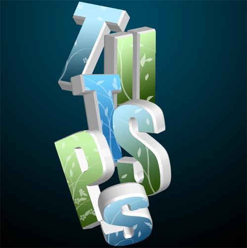 effet de texte 3D avec photoshop et illustrator cs5