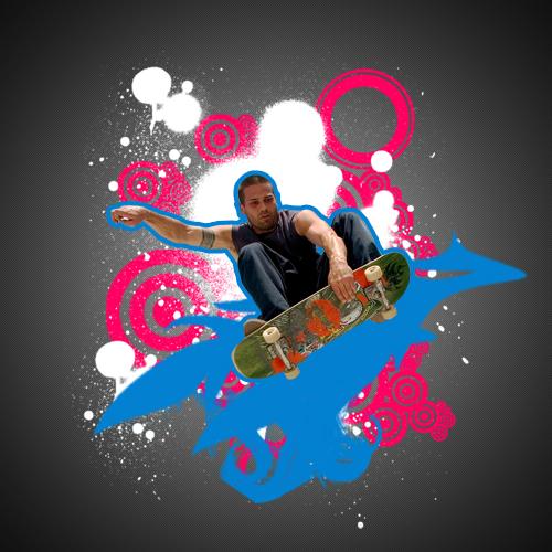 créer une affiche retro grunge avec photoshop