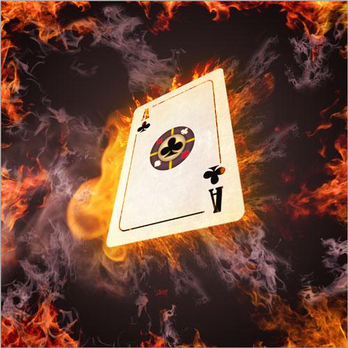 Créer une carte de poker avec un effet de feu avec photoshop