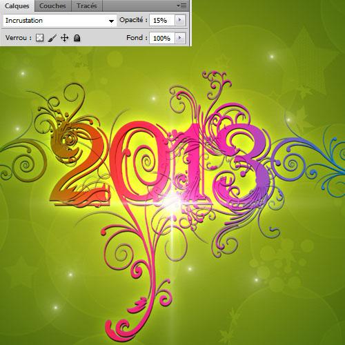 Cr er une carte de v ux 2013 avec photoshop tuto photoshop les meilleurs tutoriaux photoshop - Faire une carte de voeux ...