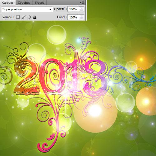 Cr er une carte de v ux 2013 avec photoshop tuto - Creer une carte de voeux ...