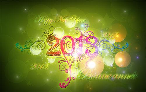 carte de voeux professionnelle 2013 gratuite Créer une carte de vœux 2013 avec Photoshop   Tuto Photoshop les