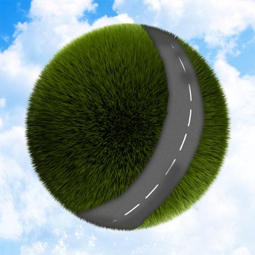 Créer une mini planète verte avec photoshop et cinema 4D