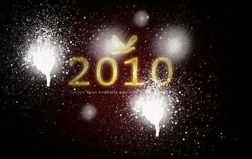 Créer Une Super Affiche Pour La Nouvelle Année 2010