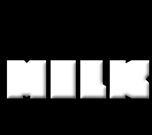 Créer une typo remplis avec une texture de lait