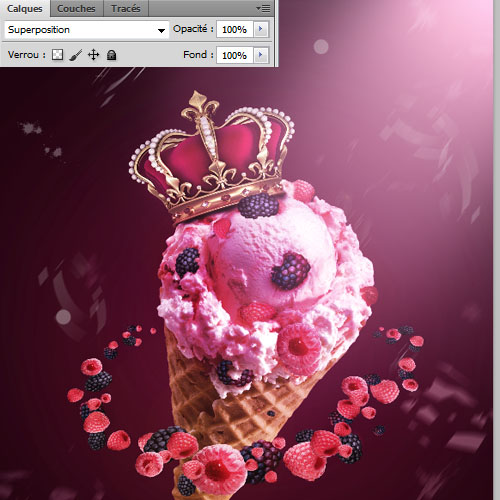 Design Glace Royale avec Photoshop