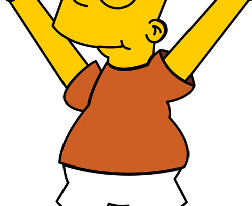 Cours photoshop pour dessiner Bart simpson avec adobe photoshop