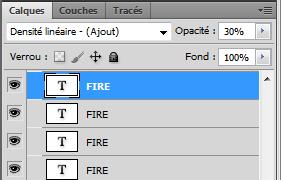 Effet de feu réaliste sur texte avec photoshopp