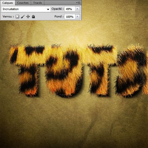 Effet de pelage léopard spectaculaire sur texte