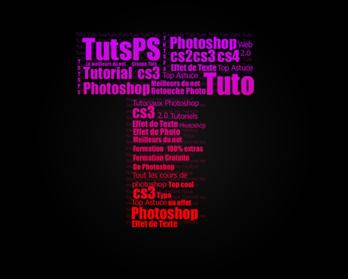 Tuto Photoshop Effet typographique avec photoshop