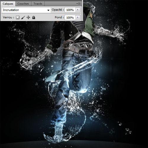 Liquide man avec photoshop