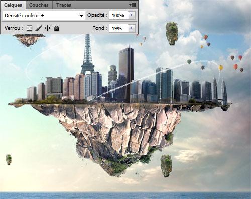 Photo Montage Au Bout du Monde avec Photoshop