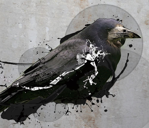 Photo Montage avec photoshop The Crow