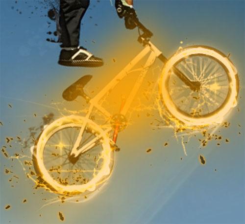 De la retouche et trucage photo Poster BMX Freestyle avec Photoshop