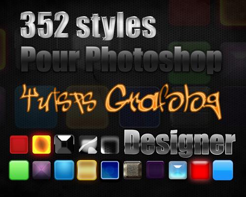 352 styles de calque pour Photoshop