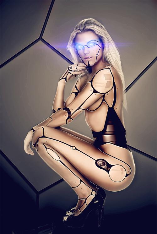 Transformer un model en cyborg avec Photoshop