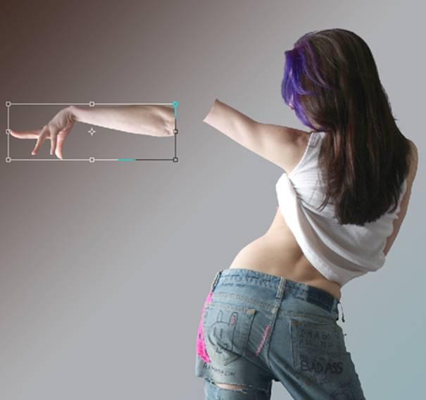 Effet de projection de peau avec photoshop