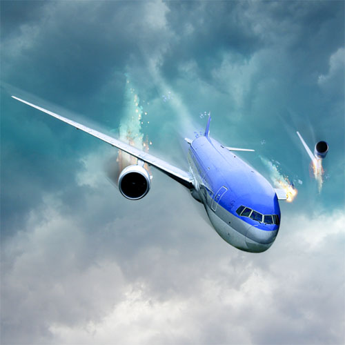 Tuto photo Montage Photo Montage un avion en feu avec Photoshop