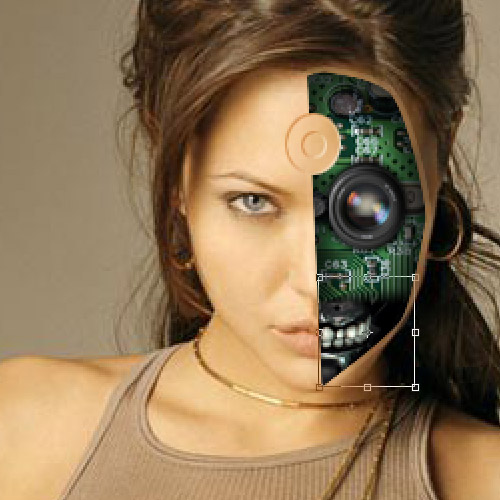 Tutoriel transfomer angelina joli en cyborg avec photoshop cs4