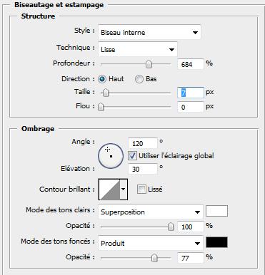 effet chrome sur texte avec photoshop