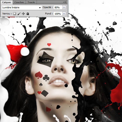 Montage photo Tutoriel pour créer un montage photo Poker girl avec photoshop