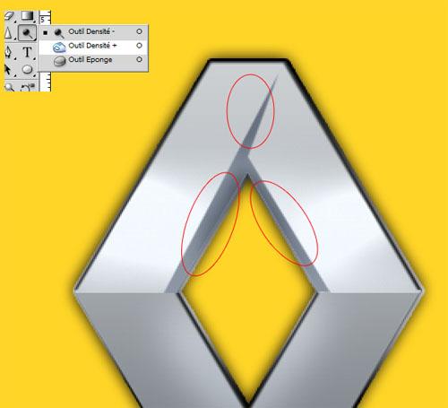Tutoriaux Photoshop Reproduire le logo de renault avec photoshop