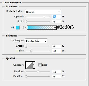 Effet de texte coloré avec des effets lumineux