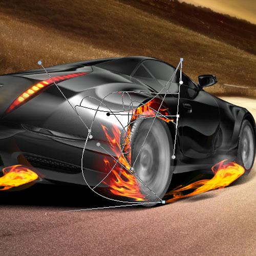 Ismailx1 un effet de vitesse sur une voiture de sport for Effet miroir sur une photo