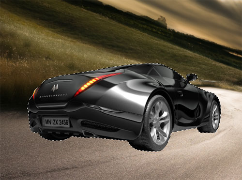 Tutoriaux photoshop Un effet de vitesse sur une voiture de sport