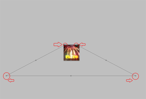 Une Affiche retro avec de la typo 3D