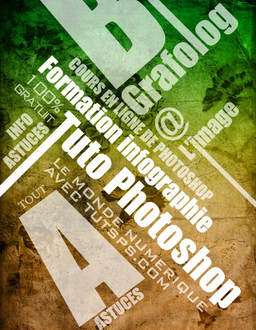 une affiche typographique avec photoshop