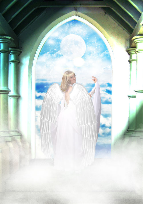 Tuto photoshop Une scène mystique avec un magnifique ange avec photoshop