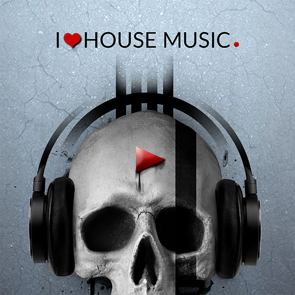 I love house music Photomanipulation