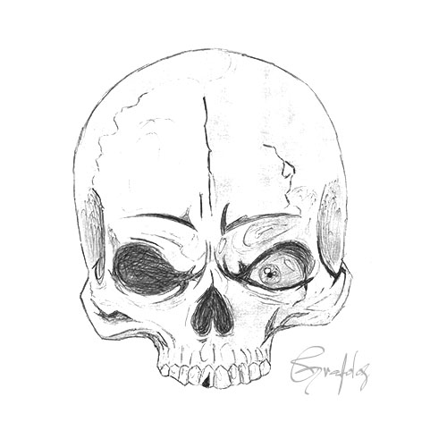 Comment dessiner tete de mort - Tete de mort facile a dessiner ...