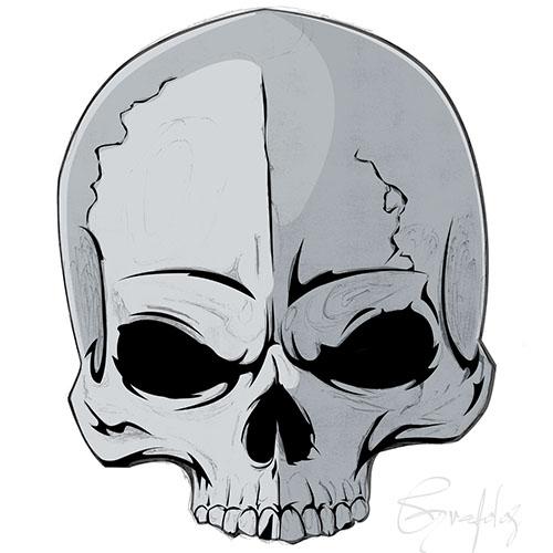 apprendre dessiner avec photoshop dessiner un crne de mort avec photoshop
