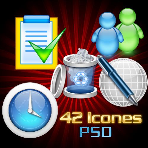 Télécharger 42 icones en psd
