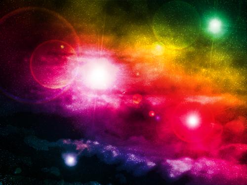 Créer un nébuleuse avec des effets de lumière