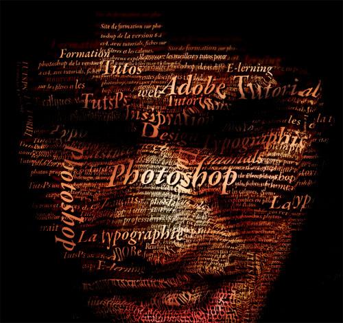 Créer un superbe portrait typographique avec adobe photoshop