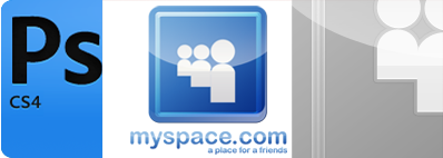 Tutoriel photoshop créer le logo de myspace