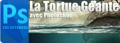 Tutoriel Photomontage La tortue géante avec photoshop