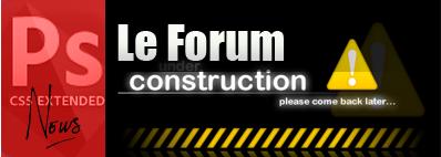 Forum under construction