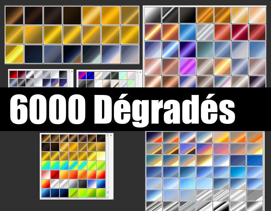 Télécharger 6000 dégradés pour photoshop