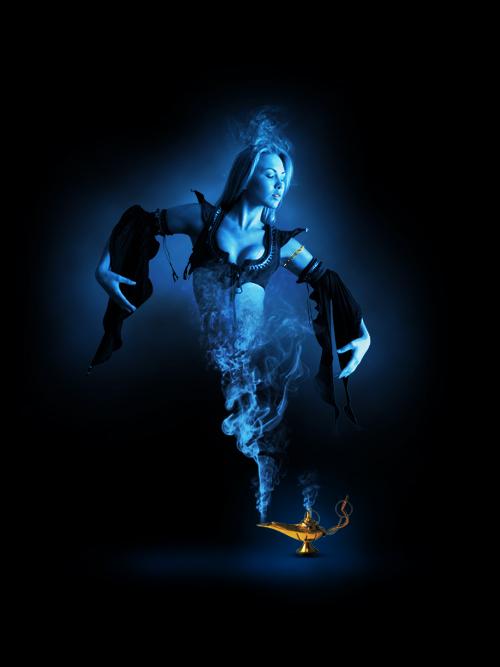 Le Genie De La Lampe Magique Avec Photoshop Tuto Photoshop Les