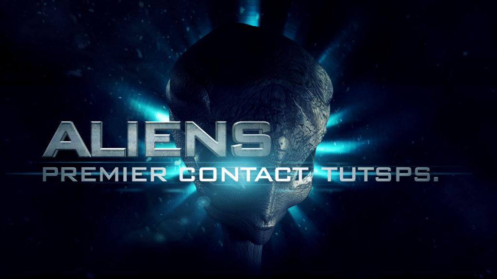 alien premier contact avec photoshop et cinema4d